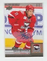 (66222) 2014-15 UPPER DECK AHL BOX SET AUTOGRAPH #18 ZACH BOYCHUK