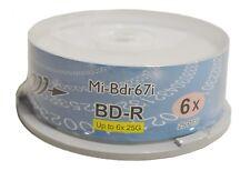 Copystars Blu-ray BD-R Blank Media Disc 25GB Spindle Inkjet White Printable A+