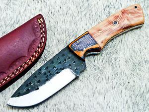 Elegant Custom hand Forged Railroad Spike Carbon Steel Fixed Blade Knife TM-2481