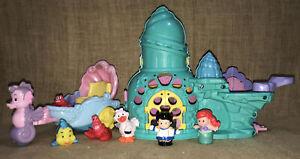 Little People Disney Princess Ariel Castle Little Mermaid Flounder Sebastian