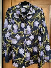 Marks And Spencer Classic Womens Floral Long Sleeve Shirt UK size 20