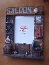 SUPERBE CADRE PHOTO SALOON-IMPORT USA - DECO COUNTRY & WESTERN / USA / BIKER