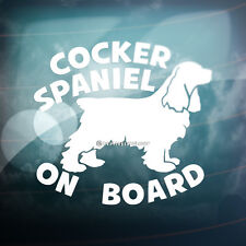 COCKER SPANIEL ON BOARD English Dog Car,Window,Bumper Vinyl Decal Sticker