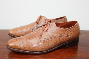 Grenson Footmaster Men's Brown Derby Shoes - Genuine Antelope Leather UK 11 F