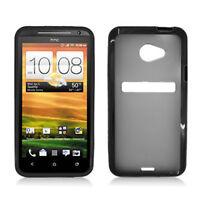 For Sprint HTC EVO 4G LTE TPU Gel GUMMY Hard Skin Case Phone Cover Black Smoke