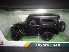 Motormax Toyota FJ40 Matt Black 79323 1/24 Platinum Edition
