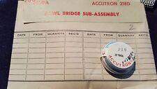 Part #180A Pawl Bridge Sub-Assembly Vintage Original Bulova Accutron 218