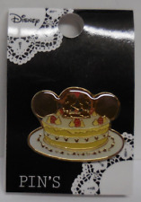 Disney Pin Japan Tdl Heart Art Collection Mickey and Minnie Kissing Cake New