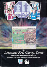 1997 FA Charity Shield Programme & Ticket - Chelsea V Manchester United