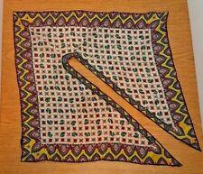 Hand Rolled 100% Silk Wingtip Split 17� Square Scarves Vintage Retro Scarf