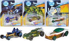 3x Hot Wheels DC Universe Character Cars - Batman, Killer Croc, the Joker