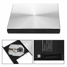 Usb 3.0 Slim External Dvd Cd Writer Drive Burner Reader Player For Laptop Silver
