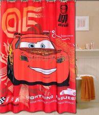 Red Cartoon sports car people Design Bathroom Fabric Shower Curtain Ks861
