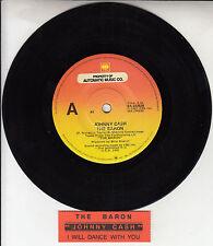 """JOHNNY CASH  The Baron 7"""" 45 rpm vinyl record + juke box title strip RARE!"""