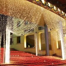 3*3m 300 LED Lichtervorhang Lichternetz Lichterkette Weihnachten Deko Innen Auße