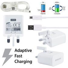 Samsung 2A Fast Wall Charger EP-TA20U and Micro USB Charging Cable - White