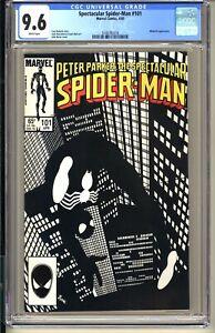 Spectacular Spider-Man #101  CGC 9.6 WP NM+  Marvel Comics 1985  Black Costume