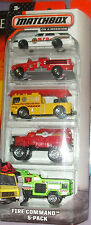 2014 Matchbox On A Mission Fire Command Emergency Vehicles 5Pk MIP 1:64 3+ Boys