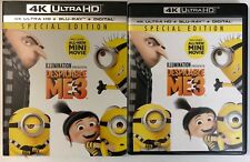DESPICABLE ME 3 4K ULTRA HD BLU RAY 2 DISC SET SPECIAL EDITION + SLIPCOVER SLEEV