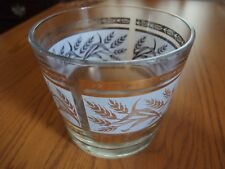 Ice Bucket Clear With Gold Wheat Design