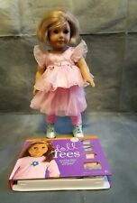 "American Girl Short Blonde Hair and Brown Eyes 18"" and Tees book set"