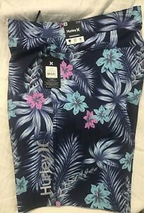 """NWT Hurley Mens Board Surf Shorts Swimsuit Size 36 MSRP $45 20"""" Length Tropical"""