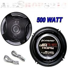 COPPIA CASSE PER AUTO 500W ALTOPARLANTI 2 VIE TWEETER OFF 16 CM SPEAKER RMS