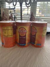3 Pack Metamucil 4-in-1 Fiber Supplement Sugar Free Orange, 6.1oz 07/2022 Sealed