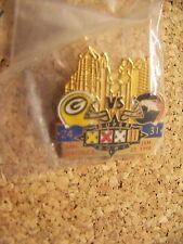 Packers Denver Broncos SB Super Bowl 32 XXXII pin w/ score Correct var champions
