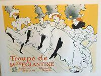 Classic Poster Print La Troupe de Mademoiselle Eglantine Can Can Dance