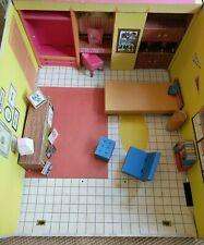 Vintage 1962 Mattel Barbie Cardboard Dream House Furniture and Rare Accessories