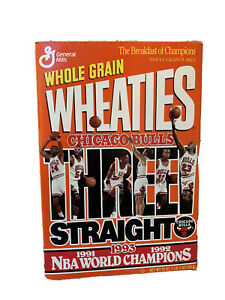 Empty Wheaties Box Michael Jordan Chicago Bulls 1993 Basketball World Champions