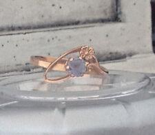 583 USSR Russian Soviet 14k rose gold color change Alexandrite ring Sz 7.25