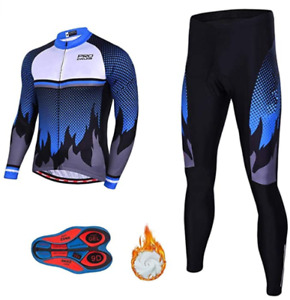 Regular Men's Cycling Long Sleeve Jersey Shirt + Pant Set