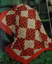 Vintage Pdf pattern crochet Log Cabin Quilts Afghan blanket bedspread