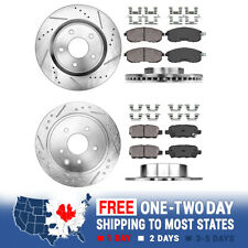 Front+Rear Brake Rotors And Ceramic Pads For 2007 2008 2009 - 2013 Nissan Altima