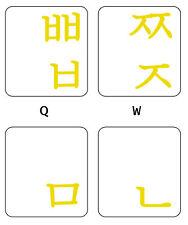 Korean keyboard stickers yellow