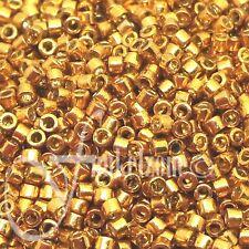 5g DB1833 Miyuki Delica 11/0 ~1,6mm DURACOAT GALVANIZED YELLOW GOLD
