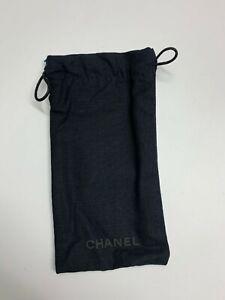 Chanel Case Soft Sunglasses Black Cloth Women W C Authentic Small