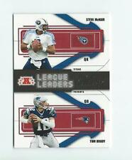 2004 Playoff Prestige League Leaders #LL6 Steve McNair/Tom Brady Patriots Titans