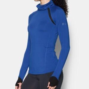 Under Armour Reactor Funnel Neck Top Blue Neck Women's Size M