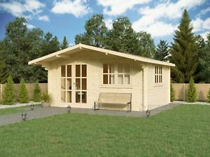 SPECIAL DEAL! Log cabin MONACO PLUS 5 x 4 m/44 mm walls/FREE DELIVERY*
