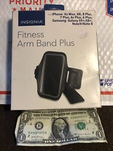 INSIGNIA FITNESS ARM BAND PLUS-FITS..X's Max,XR, 8/7/6s/6 ALL PLUS,SAMSUNG-MORE