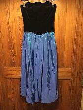 Laura Ashley, size 10: vintage velvet and satin strapless dress