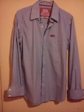 SUPERDRY SMART FORMAL PIN STRIPE DRESS SHIRT JAPAN XL VG CONDITION RRP £59 GBP