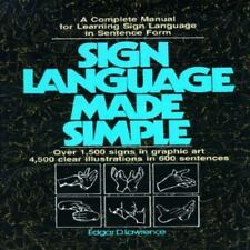 Sign Language Made Simple Lawrence, Edgar D. Hardcover