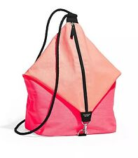 VICTORIA'S SECRET SLING BAG DRAW STRING BEACH TOTE PINK NEW