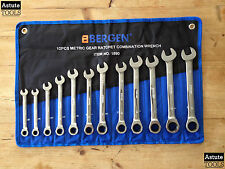 Ratchet Combination Spanner Set by Bergen Metric 8-19mm 12 Piece