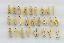 234PCS Assorted Antiqued gold plate alphabet letter charms #23047