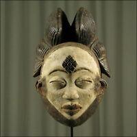 88650) Afrikanische Punu Holz Maske Gabun Afrika KUNST